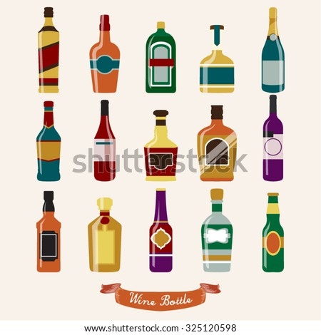 Wine Bottle Vector Design Illustration