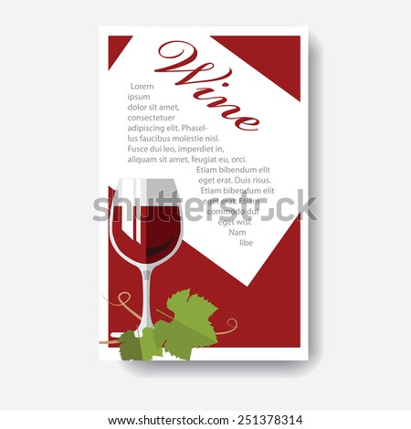 wine card - stock vector
