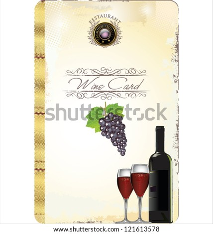 Wine card vector illustration - stock vector
