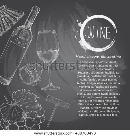 Wine menu stock images royalty free images vectors for Wine chalkboard art