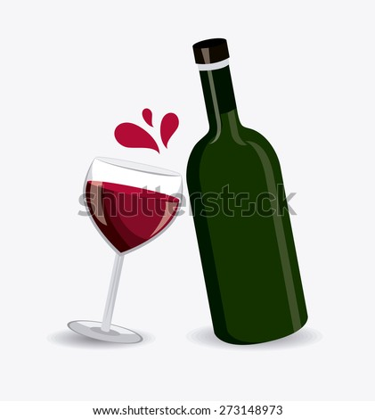 Wine design over white background, vector illustration.