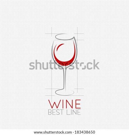 wine glass design background - stock vector