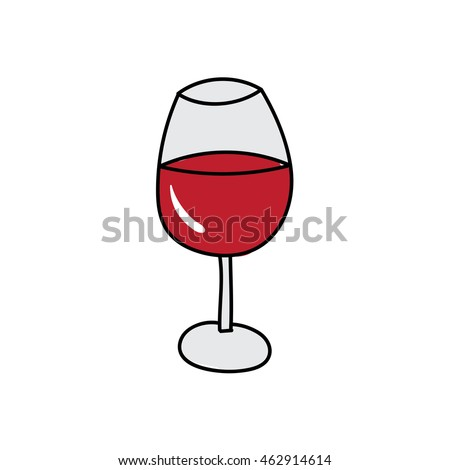 Wine glass doodle icon illustration isolated vector sign symbol