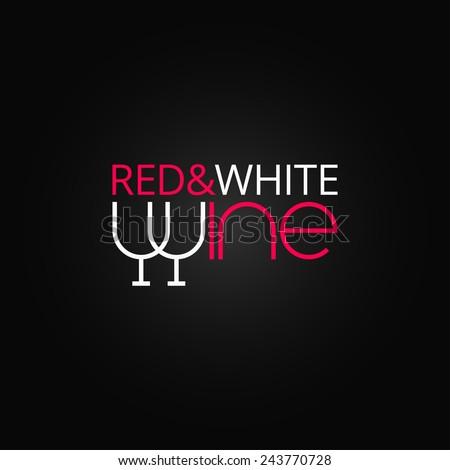 wine glass label design background - stock vector