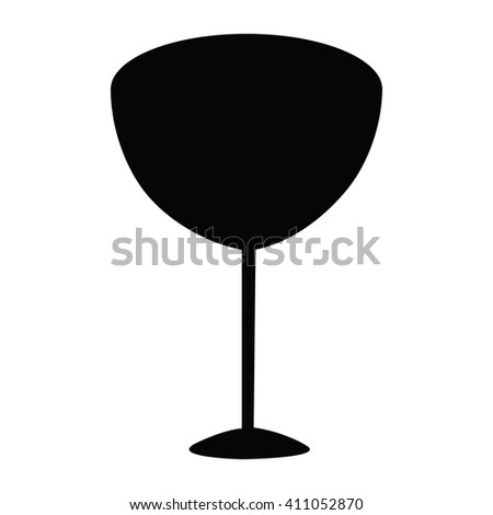 Wine glass silhouette isolated on white background - stock vector