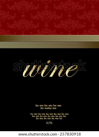 wine label elegant - stock vector