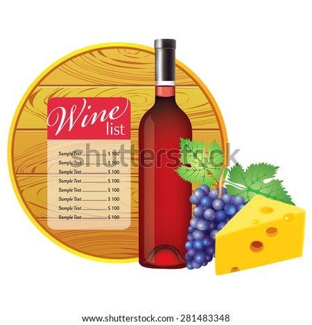 Wine list. - stock vector