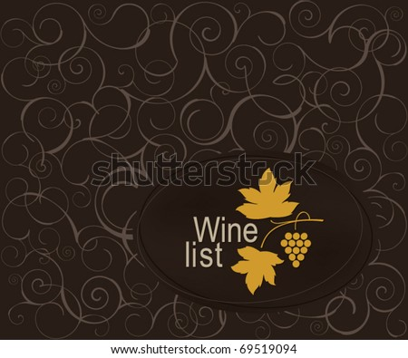 Wine list design for cafe and restaurant - stock vector