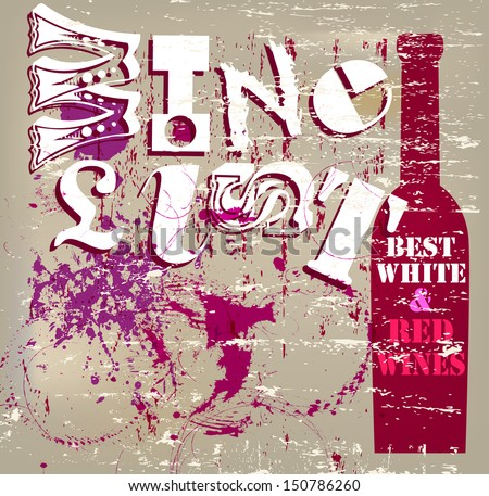 Wine List Menu Card Design  - stock vector