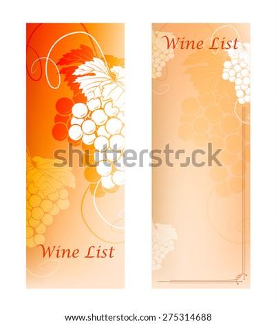 Wine List Menu Card Design template (vector image) - stock vector