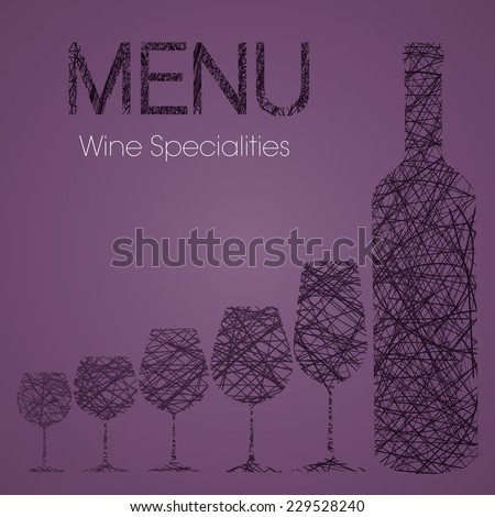 Wine list with wine specialties - second edition - stock vector