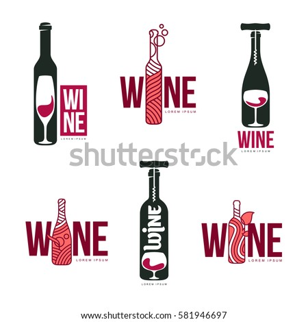 wine logo stock images royaltyfree images amp vectors