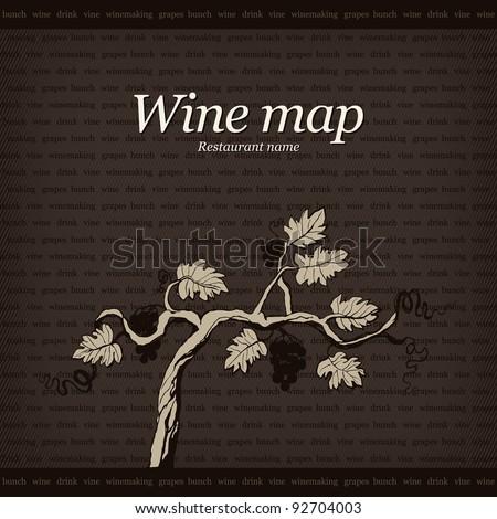 Wine map design - stock vector