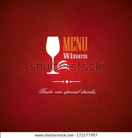 Wine menu cover design for restaurants and pubs