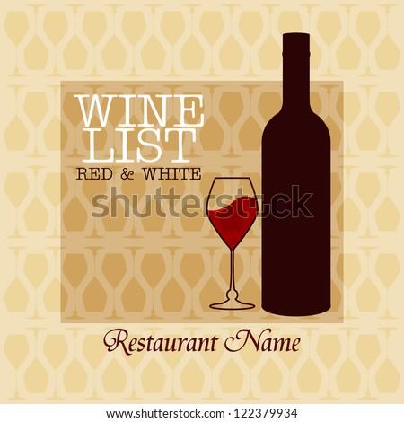 Wine menu design /  Wine list design - stock vector