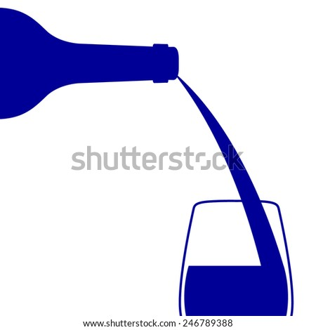 Wine pouring, vector illustrator