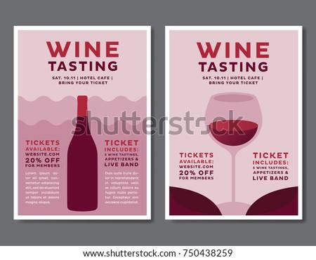 Wine Tasting Event Poster Set
