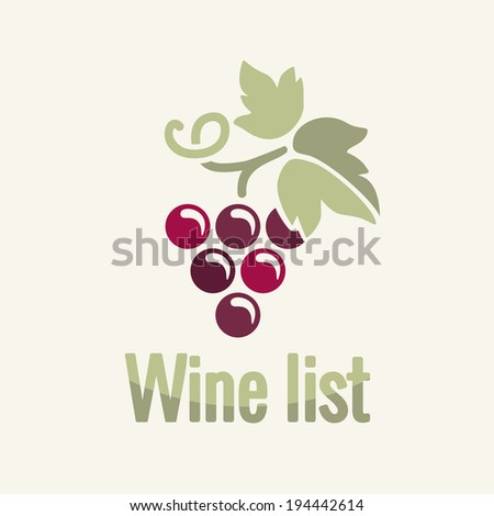 Wine vintage grapes label background  - stock vector