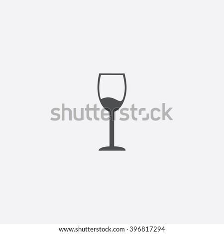 Wineglass Icon Vector.  - stock vector