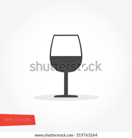 Wineglass Icon / Wineglass Icon Path / Wineglass Icon Image / Wineglass Icon Art / Wineglass Icon UI / Wineglass Icon JPG / Wineglass Icon JPEG / Wineglass Icon EPS / Wineglass Icon AI - stock vector