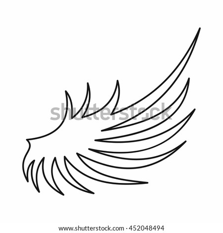 stock vector wing icon in outline style isolated vector illustration 452048494 1994 mustang gt engine alternator wiring diagram 1994 find image,1996 Mustang Ignition Wiring