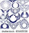 Wing Ring Collection - stock vector