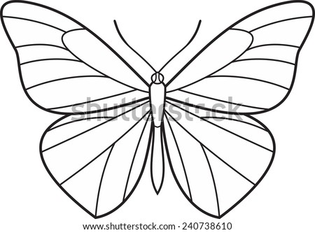 Wings butterfly isolated vector icon logo  - stock vector