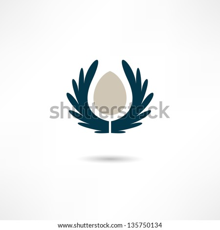 wings icon - stock vector