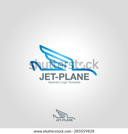 Wings logo template. Vector business icon - stock vector