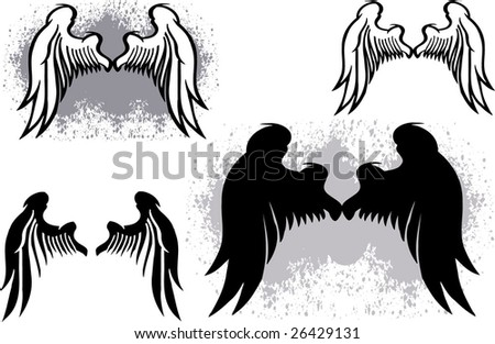 wings of angel - stock vector