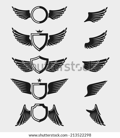 Wings set. Vector - stock vector