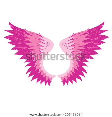 Wings, vector illustration. - stock vector