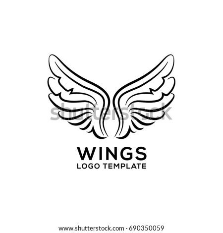 Wings Vector Logo Template Angel Wings Stock Vector 2018 690350059