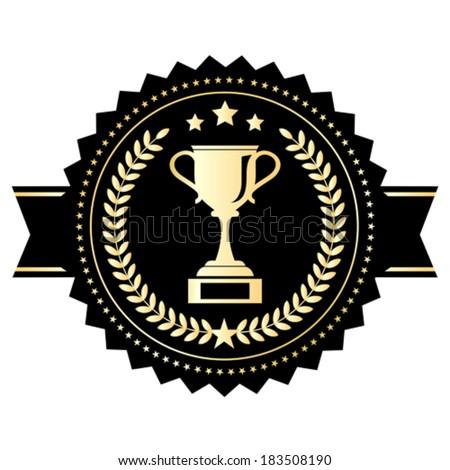 Winner cup emblem - stock vector