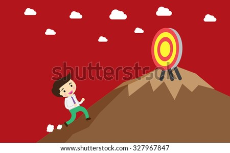 winner. finish. win. flat design. track. Success. goal. Target. Bulb Ideas. Business and finance vision concept. Business Goals. dream. vector. infographics. lose. mountain