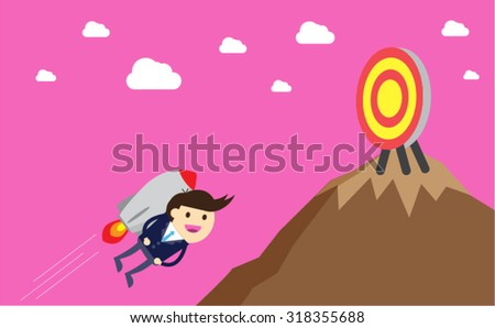winner. finish. win. flat design. track. Success. goal. Target. rocket. Bulb Ideas. finance vision concept. Business Goals. dream. vector. infographics. number one. mountain. Businessman. air fly sky