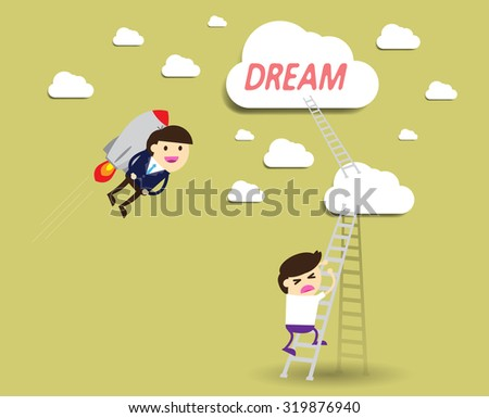 winner. finish. win. flat design. track. Success. Target. rocket. Bulb Ideas. finance vision concept. Business Goal. dream. vector. infographics. Businessman. air fly sky. Shortcuts, lost. - stock vector