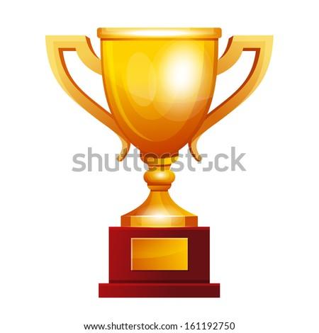 Winner golden cup - stock vector