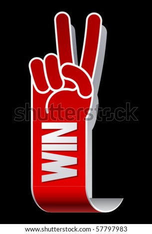 Winner illustration - stock vector
