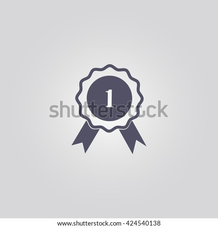 winner medal icon. winner medal vector. winner medal sign - stock vector
