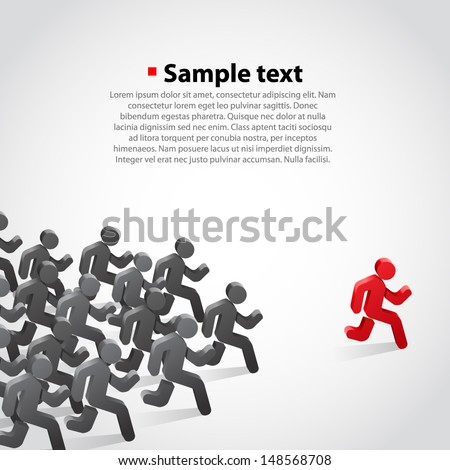 Winner running person - stock vector