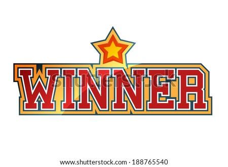 Winner sign - stock vector