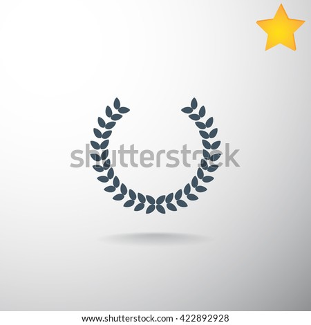 Winner wreath Icon Vector. Winner wreath Icon JPEG. Winner wreath Icon Art. Winner wreath Icon Image. Winner wreath Icon JPG. Winner wreath Icon EPS. Winner wreath Icon AI - stock vector