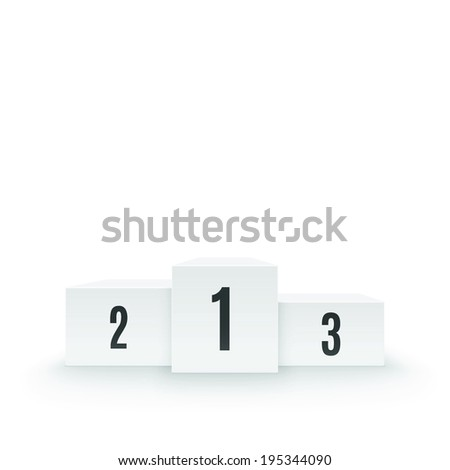 Winners podium, pedestal isolated on white background. Vector illustration - stock vector