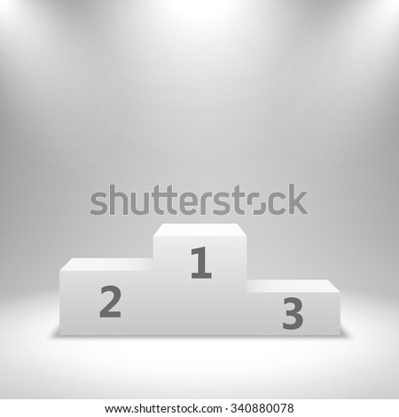 Winners podium, pedestal isolated on white background. Vector illustration - stock vector