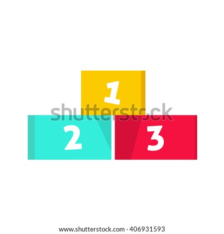 Winners podium vector illustration isolated on white background