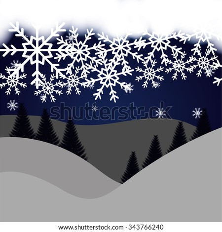 Winte time and snow graphic design, vector illustration eps10
