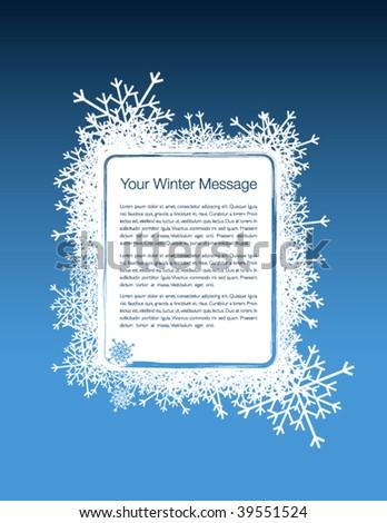 Winter advertisement - stock vector