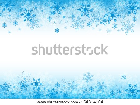 winter background for design with copy space - stock vector