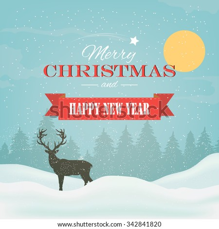winter background, landscape, christmas, new year - stock vector